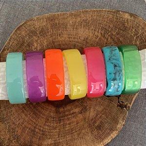 Bracelete Resina Liso