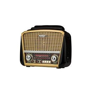 Radio Retro Vintage Portátil J-107 Dourado