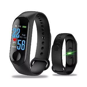 d430e8d003e Relógio Inteligente Smartband M3 Bluetooth Frequência Cardíaca Pedômetro