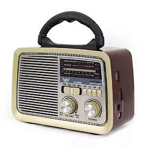 Radio Vintage Retro Portatil ALTOMEX A-3188 USB / recarregavel / bivolt