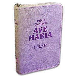 Bíblia Ave Maria Rosa - Letra Maior