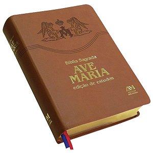 Bíblia Ave Maria Rosa - Edição de Estudos