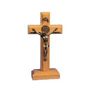Crucifixo de madeira - 14 cm