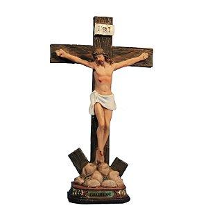 Crucifixo de porcelana - 18 cm