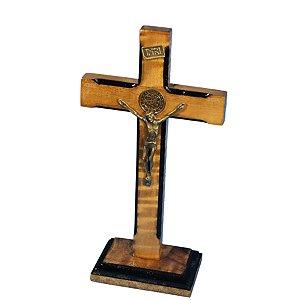 Crucifixo de madeira - 25 cm