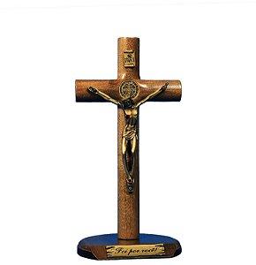 Crucifixo de madeira - 19 cm