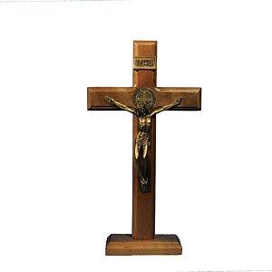 Crucifixo de madeira - 28 cm
