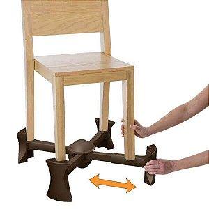 Base Extensora Portátil para Cadeiras Chocolate - Kaboost
