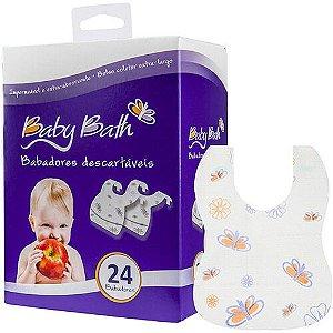 Babadores Descartáveis com 24 unidades - Baby Bath