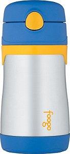 Garrafinha Térmica Foogo Azul e Amarelo - Thermos