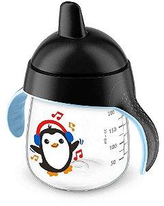 Copo Treinamento Pinguim 260ml Preto (12 meses) - Philips Avent