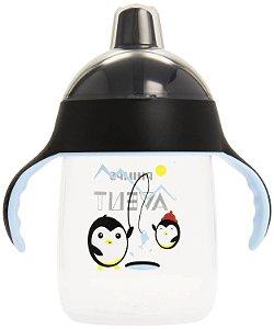 Copo Treinamento Pinguim 340 ml Preto (18 meses) - Philips Avent