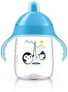 Copo Treinamento Pinguim 340ml Azul (18 meses) - Philips Avent