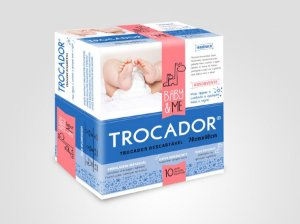 TROCADOR - trocador absorvente e descartável  (pcte com 10 uni) - Baby and Me