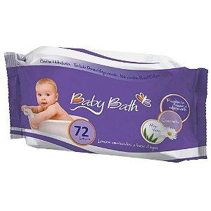 Lenços Umedecidos c/72 unidades- Baby Bath