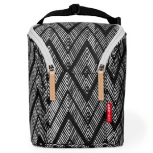 Bolsa Térmica para mamadeira - Double Bottle Bag (On the Go) Zig Zag Zebra- Skip Hop