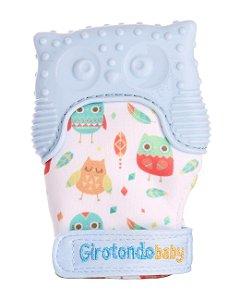 Mordedor Infantil Luva Coruja Azul - Girotondo Baby