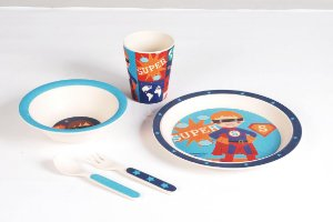Kit Alimentação Super Herói 5pcs - Girotondo Baby