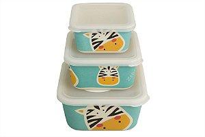 Kit 3 Potes Eco Zebra - Girotondo Baby