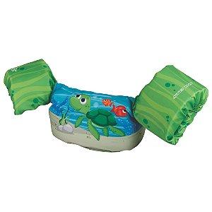 Boia Infantil Puddle Jumper Colete Tartaruga Verde - Puddle Jumper