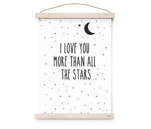 Quadro Decorativo I Love You - Eef