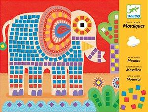 Colagem com Mosaicos Elefante e Caracol - Djeco