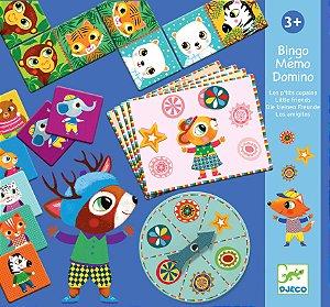 Set de Jogos Bingo, Memória e Dominó - Djeco