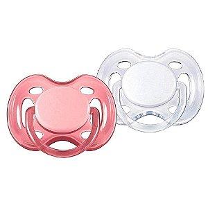 Chupetas FreeFlow Ortodôntica 0-6 meses Rosa e Branca (embalagem com 2 unidades) - Philips Avent