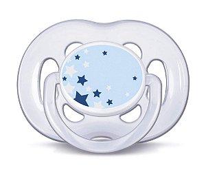 Chupeta Freeflow Noturna Ortodontica (Azul) Unitária 6-18 meses Brilha no Escuro - Philips Avent