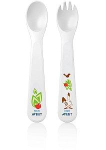 Kit Garfo e Colher para Bebês (12 Meses+) - Philips Avent
