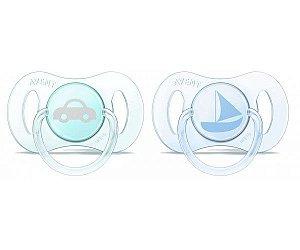 Mini chupetas Ortodôntica Azul e Verde Tamanho 0-2 meses  - Philips Avent