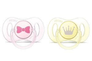 Mini chupetas Ortodôntica Rosa e AmarelaTamanho 0-2 meses - Philips Avent