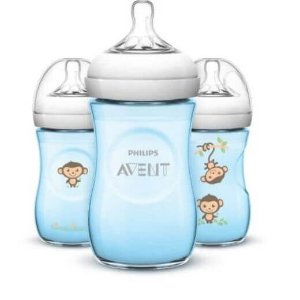 Pack 3 Mamadeiras 260ml PÉTALA Macaco - Philips Avent