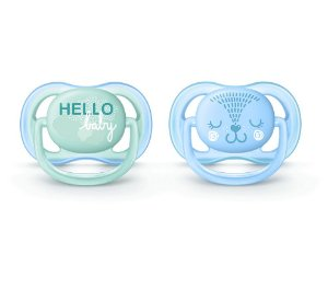 Chupeta Ultra Air Dupla Decorada (Azul) - Philips Avent