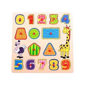 Encaixe e Brinque Números - Dican