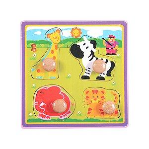 Encaixe e Brinque Puxador Largo Girafa - Dican