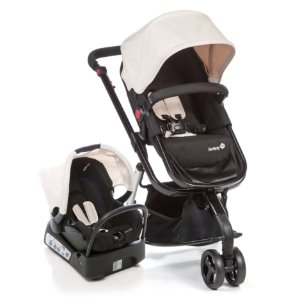 Carrinho de Bebê Travel System Mobi Plain Bege -  Safety 1st