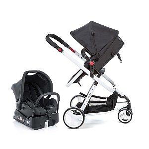 Carrinho de Bebê Travel System Mobi Black And White -  Safety 1st