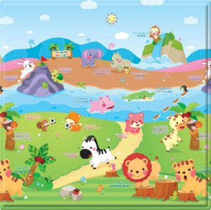 Tapete de Atividades Dupla Face Baby Play Mat Pequeno Sporty Animals- Safety 1st