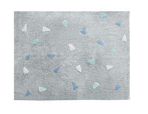 Tapete Confetti Cinza Tricolor Azul - Nina & Co.