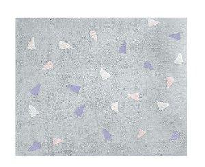 Tapete Confetti Cinza Tricolor Rosa- Nina & Co.
