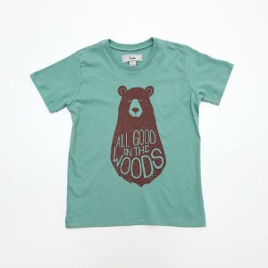 T-shirt Kids Bear Verde - Dudes