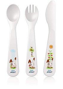 Garfo, colher e faca para bebês (18 m+) Philips AVENT