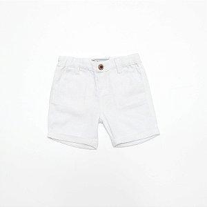 Bermuda Linho Baby Branco - Dudes