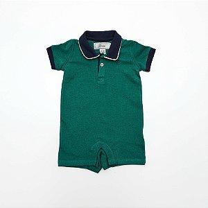 Macacão Polo Baby Verde - Dudes