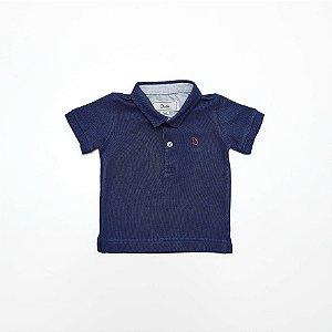 Camisa Polo Baby Azul - Dudes