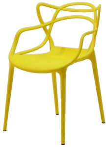 Cadeira Infantil Mix Alegra Amarela - Cia do Móvel