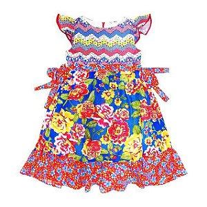 Vestido São João Florido com Laço - Té Confecções
