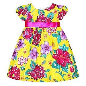 Vestido Flores Amarelo São João - Té Confecções