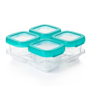 Conjunto com 4 potes de plástico para armazenar 180ml - Oxotot